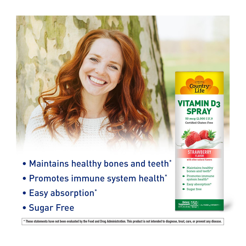Vitamin D3 Spray – Strawberry