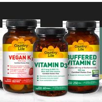 Vitamins A, C, D, E, K